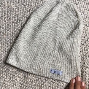 NEFF white and silver sparkle beanie